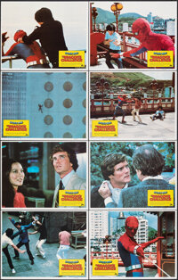 """Spider-Man: The Dragon's Challenge (Columbia, 1979). Mint. International Lobby Card Set of 8 (11"""" X 14""""). Acti..."""