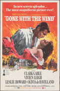 "Movie Posters:Academy Award Winners, Gone with the Wind (MGM, R-1970). Folded, Very Fine-. One Sheet (27"" X 41"") Howard Terpning Artwork. Academy Award Winners...."