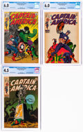 Silver Age (1956-1969):Superhero, Captain America #110, 111, and 113 CGC-Graded Group (Marvel, 1969).... (Total: 3 Comic Books)