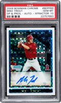 Baseball Cards:Singles (1970-Now), 2009 Bowman Chrome Draft Mike Trout (XFractor Autograph) #...