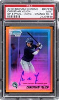 Baseball Cards:Singles (1970-Now), 2010 Bowman Chrome Drafts & Prospects Christian Yelich (Or...