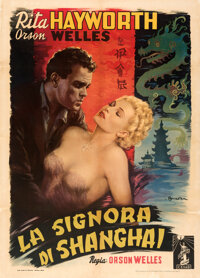 "The Lady from Shanghai (Columbia C.E.I.A.D., 1948). Fine/Very Fine on Linen. Italian 2 - Fogli (39.5"" X 55.25""..."