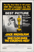 "Movie Posters:Academy Award Winners, One Flew Over the Cuckoo's Nest & Other Lot (United Artists, 1975). Folded, Overall: Fine+. One Sheets (2) (27"" X 41"") & Unc... (Total: 3 Items)"