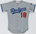 Baseball Collectibles:Uniforms, 1983 Bill Russell Los Angeles Dodgers Game Used Jersey. ...