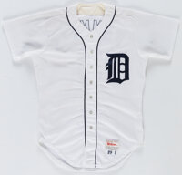 1989 Alan Trammell Game Used Jersey