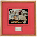 Autographs:Index Cards, Nellie Fox Signed Cut Display. ...