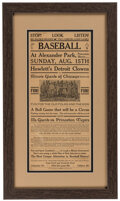 Baseball Collectibles:Publications, 1920s Detroit Clowns vs. Illinois Giants of Chicago Baseball Paper Poster. ...