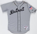 Baseball Collectibles:Uniforms, 2015 Victor Martinez Game Used Detroit Tigers Throwback Uniform. ...