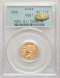Indian Quarter Eagles: , 1929 $2 1/2 MS61 PCGS. Gold CAC. PCGS Population: (1820/11734). NGC Census: (2803/17607). CDN: $410 Whsle. Bid for NGC/PCGS...