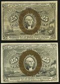 Fractional Currency:Second Issue, Fr. 1283 25¢ Second Issue Extremely Fine;. Fr. 1285 25¢ Second Issue Extremely Fine.. ... (Total: 2 notes)