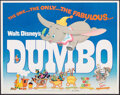 """Movie Posters:Animation, Dumbo (Buena Vista, R-1972). Rolled, Fine/Very Fine. Half Sheet (22"""" X 28""""). Animation.. ..."""