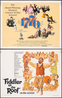 """Fiddler on the Roof & Other Lot (United Artists, 1971). Rolled, Overall: Fine/Very Fine. Half Sheets (5) (22"""" X..."""