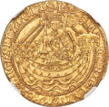 Great Britain, Great Britain: Henry VI (1st Reign, 1422-1461) gold Noble ND (1422-1430) MS64 NGC,...