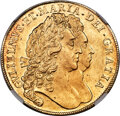 Great Britain, Great Britain: William & Mary gold 5 Guineas 1692 UNC Details (Obverse Repaired) NGC,...