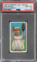 Baseball Cards:Singles (Pre-1930), 1909-11 T206 Sweet Caporal 350-460/42 Jake Stahl (Glove Shows) PSA NM-MT 8 - Pop One, None Higher With This Brand/Series/Facto...