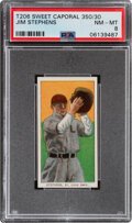 Baseball Cards:Singles (Pre-1930), 1909-11 T206 Sweet Caporal 350/30 Jim Stephens PSA NM-MT 8 - Overall Pop Four with None Higher....