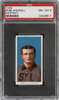 Baseball Cards:Singles (Pre-1930), 1909-11 T206 Piedmont 150 Rube Waddell (Portrait) PSA NM-MT 8 - Pop Four, Only One Higher With This Brand & Series. ...
