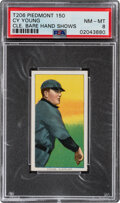 Baseball Cards:Singles (Pre-1930), 1909-11 T206 Piedmont 150 Cy Young (Bare Hand Shows) PSA NM-MT 8 - Pop One, Two Higher With This Brand & Series. ...