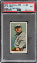 Baseball Cards:Singles (Pre-1930), 1909-11 T206 Sweet Caporal 350-460/25 Cy Young (Glove Shows) PSA NM 7 - Pop One, None Higher With This Brand/Series/Factory Co...