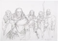 Movie/TV Memorabilia:Original Art, Game of Thrones Mance Rayder and Northern Wildlings Concept Drawing (HBO, 2011). ...