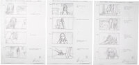 Game of Thrones Melisandre The Red Witch Storyboards by William Simpson Group of 5 (HBO, 2011)