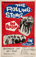 Music Memorabilia:Posters, The Rolling Stones 1964 Second-Tour U.S. Concert Poster, Dayton, OH....