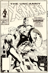 Jim Lee and Scott Williams Uncanny X-Men #268 Cover Original Art (Marvel, 1990)