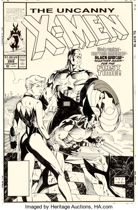 Jim Lee and Scott Williams Uncanny X-Men #268 Cover Original Art (Marvel, 1990)....