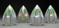 Lighting, Set of Four Austrian Glass Pendant Lamp Shades, circa 1900. 6-1/2 inches (16.5 cm) (each). ... (Total: 4 Items)