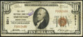 National Bank Notes:Pennsylvania, Smithton, PA - $10 1929 Ty. 1 The First National Bank Ch. # 5311 Fine.. ...