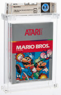 Video Games:Nintendo, Mario Bros. - Wata 8.5 A+ Sealed [1988 Silver Box], 2600 Atari 1983 USA....