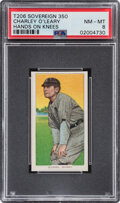 Baseball Cards:Singles (Pre-1930), 1909-11 T206 Sovereign 350 Charley O'Leary (Hands On Knees) PSA NM-MT 8 - Pop One, None Higher With This Brand & Series. ...
