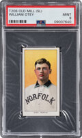 Baseball Cards:Singles (Pre-1930), 1909-11 T206 Old Mill William Otey PSA Mint 9 - Overall Pop One with None Higher! ...