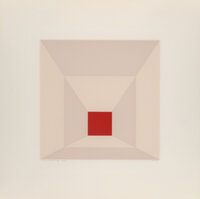 Josef Albers (1888-1976) Mitered Squares, 1976 The complete set of 12 screenprints in colors, on Arc