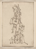 Prints & Multiples, Yves Tanguy (1900-1955). Untitled, from Ivan Goll's Le Mythe de la roche percée, 1947. Etching on wove paper. 6-7/8 ...