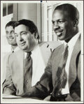 Basketball Collectibles:Photos, 1985 Charles Oakley & Jerry Krause Original Photograph. ...