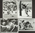 Football Collectibles:Photos, 1970s Terry Bradshaw Original Photographs by Russ Reed, Lot of 4....