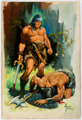 Original Comic Art:Paintings, Alfredo Alcala - Conan Painting Original Art (1971)....