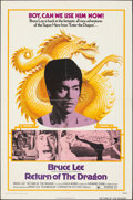 """Movie Posters:Action, Return of the Dragon (Bryanston, 1974). Folded, Fine. One Sheet (27"""" X 41""""). Action.. ..."""