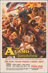 "The Alamo (United Artists, 1960). Folded, Fine/Very Fine. One Sheet (27"" X 41"") Reynold Brown Artwork. Western..."