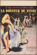 """Movie Posters:Foreign, La Dolce Vita (Pathé Consortium, 1960). Folded, Very Fine+. French Petite (15.75"""" X 23.5"""") Yves Thos Artwork. Foreign.. ..."""