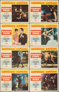 """Movie Posters:Romance, Funny Face (Paramount, 1957). Fine/Very Fine. Lobby Card Set of 8 (11"""" X 14""""). Romance.. ... (Total: 8 Items)"""