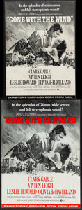 "Movie Posters:Academy Award Winners, Gone with the Wind (MGM, R-1967/R-1968/R-1949). Folded, Overall: Fine/Very Fine. Uncut Pressbooks (3) (Multiple Pages, 14"" X... (Total: 3 Items)"