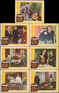 "5 Fingers (20th Century Fox, 1952). Very Fine. Lobby Cards (7) (11"" X 14""). Thriller. ... (Total: 7 Items)"