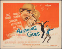 """Anything Goes (Paramount, 1956). Folded, Very Fine-. Half Sheet (22"""" X 28""""). Musical"""