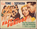 "Movie Posters:Comedy, Fast and Furious (MGM, 1939). Fine+. Trimmed Title Lobby Card (10.75"" X 13.75""). Comedy.. ..."
