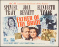 """Movie Posters:Comedy, Father of the Bride (MGM, R-1962). Folded, Fine/Very Fine. Half Sheet (22"""" X 28""""). Comedy.. ..."""