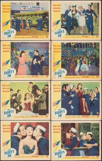 """The Fleet's In (Paramount, 1942). Fine/Very Fine. Lobby Card Set of 8 (11"""" X 14""""). Musical. ... (Total: 8 Item..."""