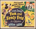 """Movie Posters:Animation, Fun and Fancy Free (RKO, 1947). Very Fine-. Title Lobby Card (11"""" X 14""""). Animation.. ..."""