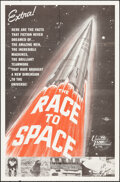 "Movie Posters:Documentary, The Race to Space (Universal International, 1962). Folded, Very Fine. One Sheet (27"" X 41""). Documentary.. ..."